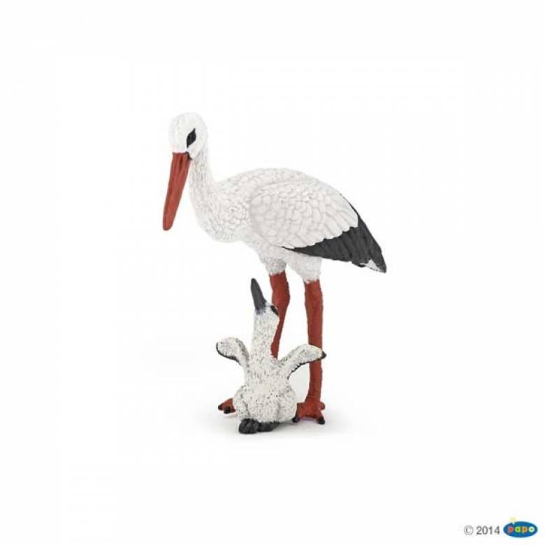 Stork And Baby Stork PAPO WILD ANIMAL