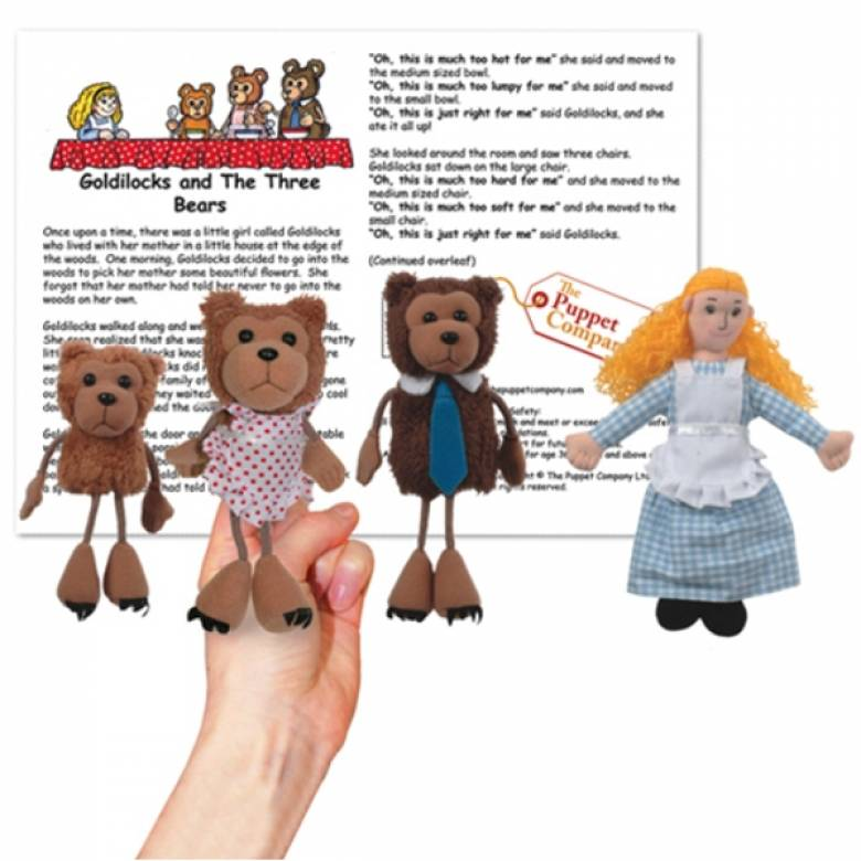 Goldilocks And The Three Bears Storytime Puppet Set