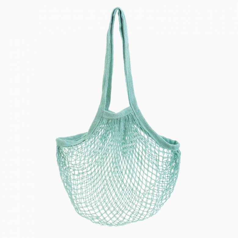 String Shopping Bag In Light Teal