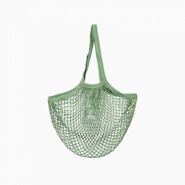 String Shopping Bag In Olive Green