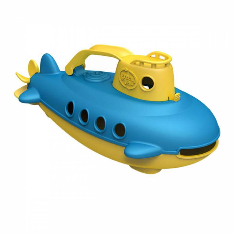 Blue Submarine With Yellow Handle By Green Toys 6m+