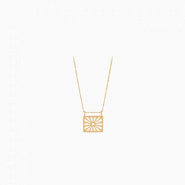 Sunrise Necklace In Gold By Pernillle Corydon