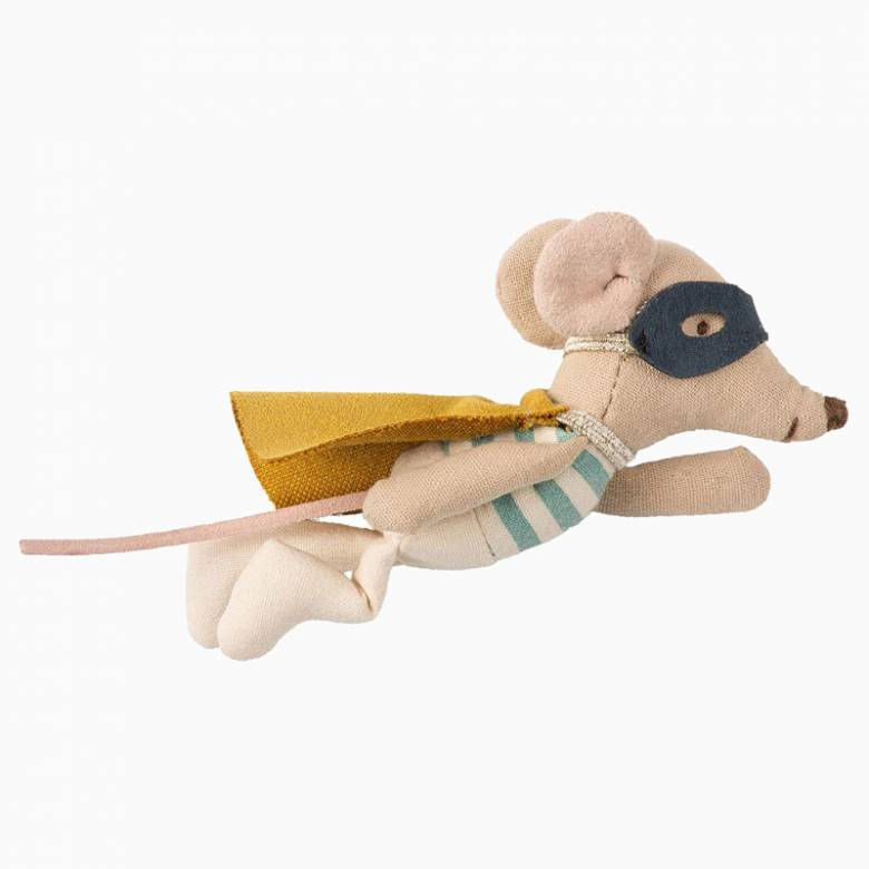 Superhero Mouse Soft Toy In Tin Suitcase By Maileg 0+