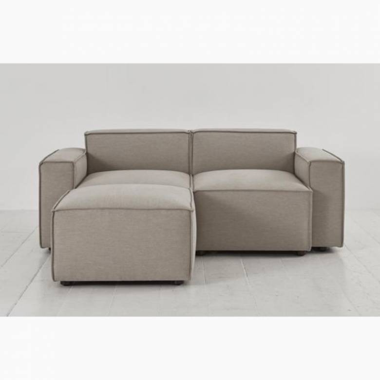 Swyft Model 03 - 2 Seater Sofa Left Chaise - Linen Pumice