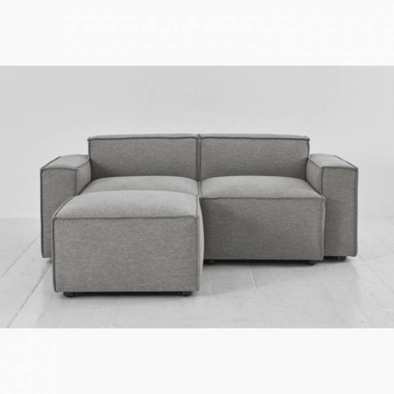 Swyft - Model 03 - 2 Seater Sofa - Left Chaise - Linen Shadow