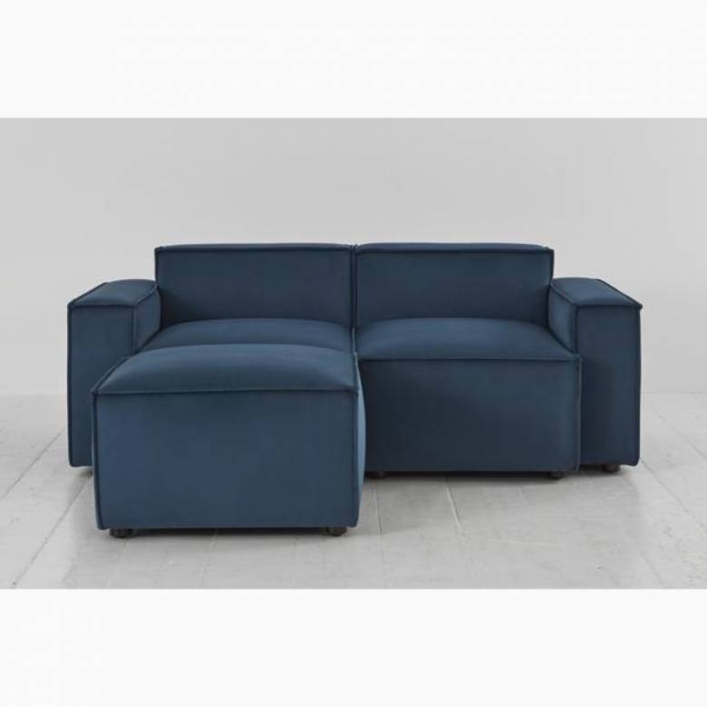 Swyft Model 03 - 2 Seater Sofa Left Chaise - Velvet Teal