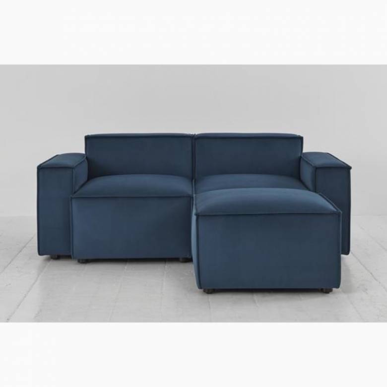 Swyft - Model 03 - 2 Seater Sofa - Right Chaise - Velvet Teal