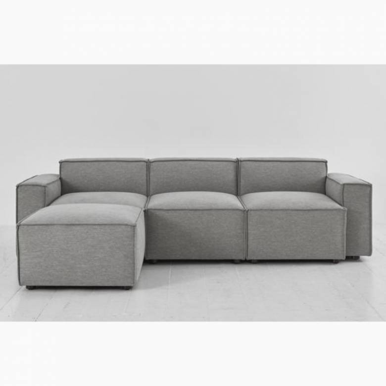 Swyft Model 03 - 3 Seater Sofa Left Chaise - Linen Shadow