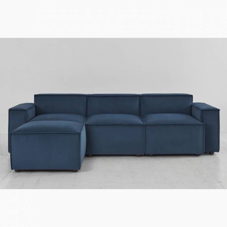 Swyft Model 03 - 3 Seater Sofa Left Chaise - Velvet Teal