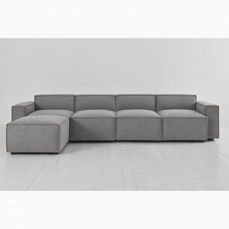 Swyft - Model 03 - 4 Seater Sofa - Left Chaise - Linen Shadow