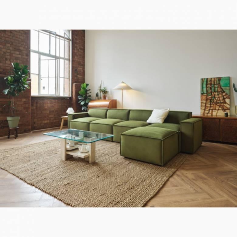 Swyft Model 03 - 4 Seater Sofa Right Chaise - Velvet Vine