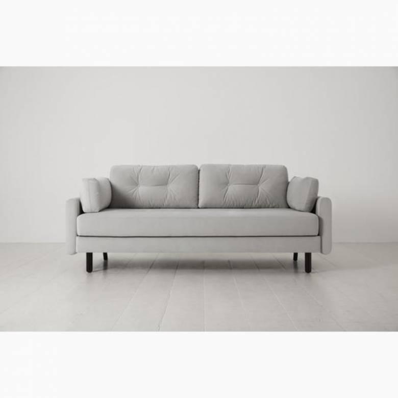 Swyft - Model 04 - 3 Seater Sofa Bed - Velvet Light Grey