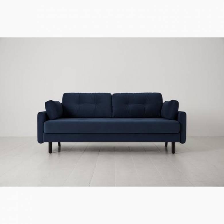 Swyft - Model 04 - 3 Seater Sofa Bed - Velvet Teal