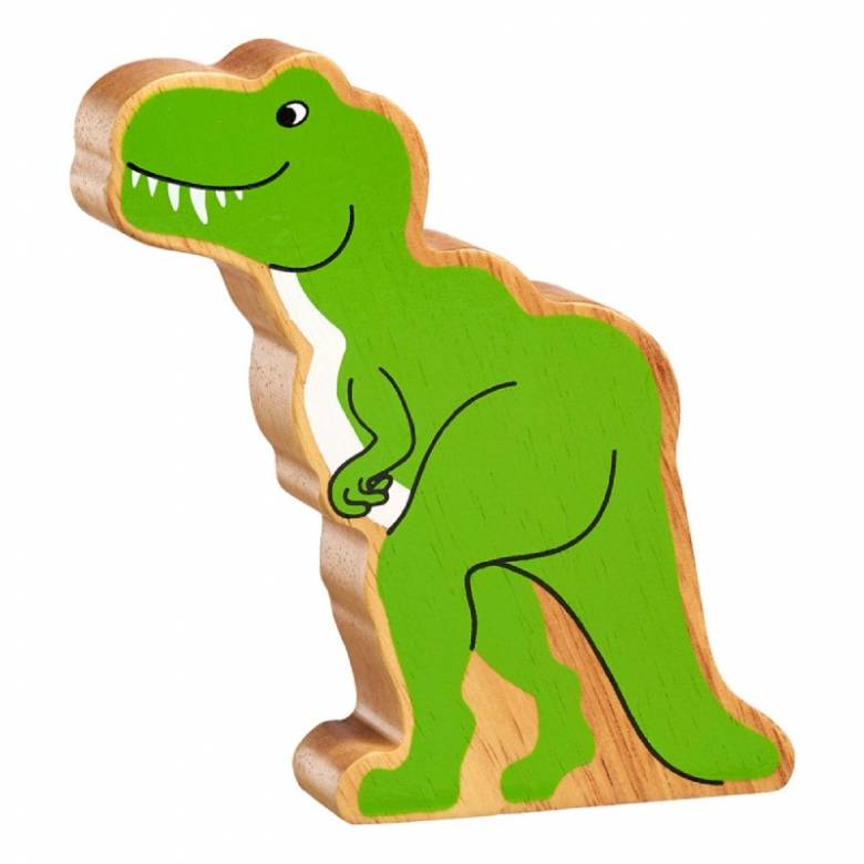 T-Rex Dinosaur Wooden PAINTED Animal Fairtrade Lanka Kade