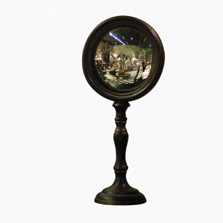 Tall Convex Table Mirror On Stand