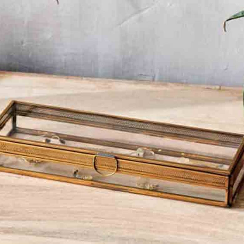 Tama Jewellery Box With Frame Long