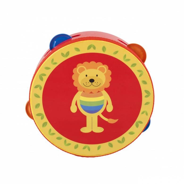 Lion Tambourine Musical Toy 1yr+