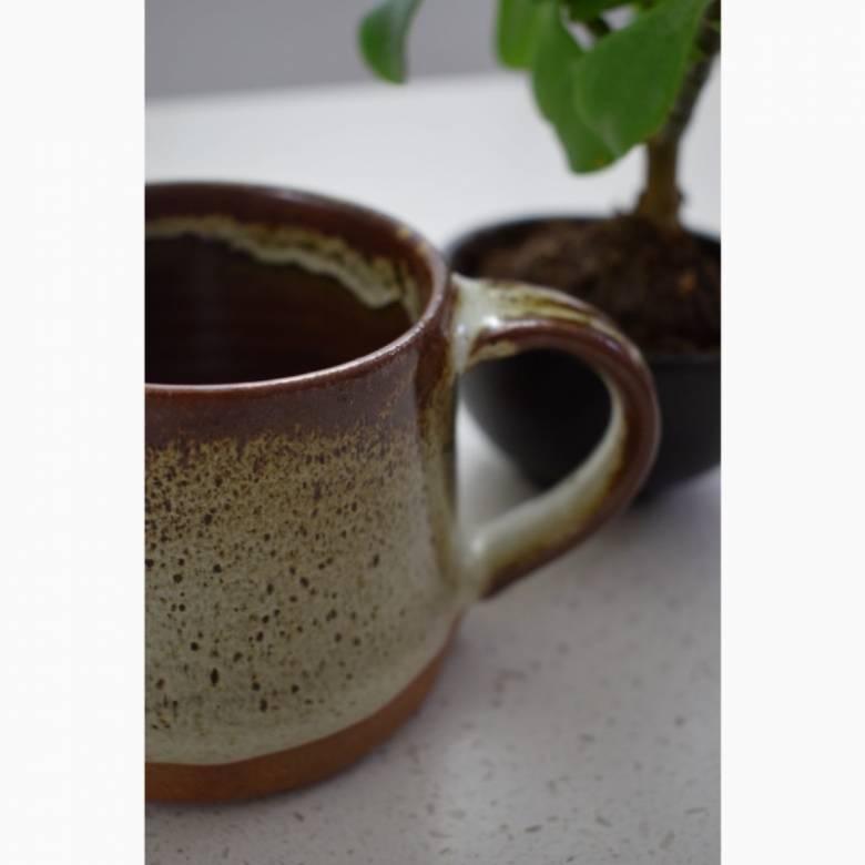 Tawny Glazed Stoneware Mug
