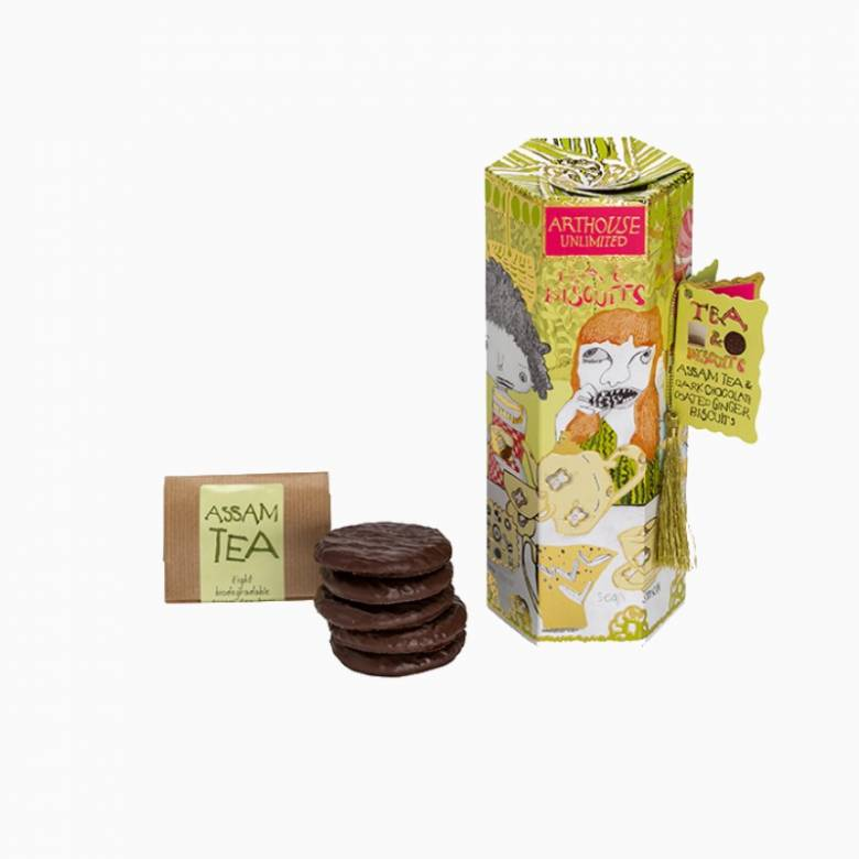 Tea and Biscuits In Gift Box – Assam and Ginger Biscuits