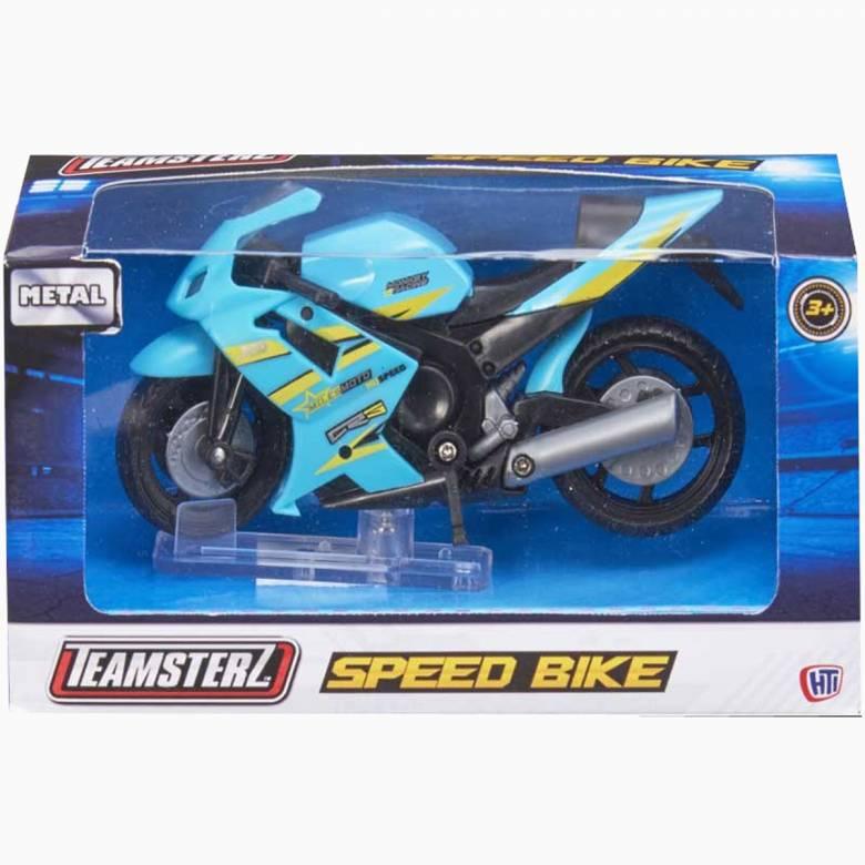 Teamsterz Speed Bike Die Cast & Plastic Toy Motorbike.  Teamster