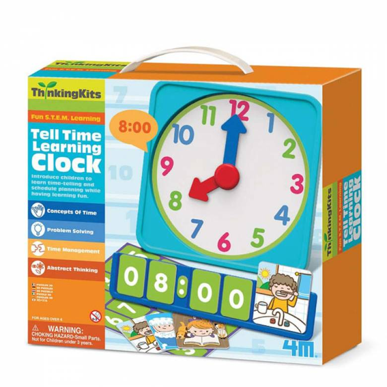 Tell The Time Learning Clock - Thinking Kits 4+