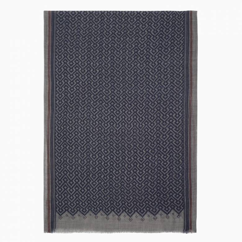 Temple Fine Wool Scarf By Jo Edwards