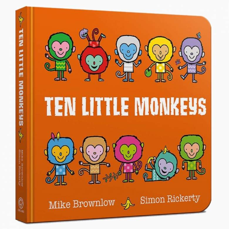 Ten Little Monkeys - Board Book