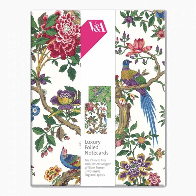 The Chinese Tree - Box Of 8 Luxury Foiled Notecards & Envelopes