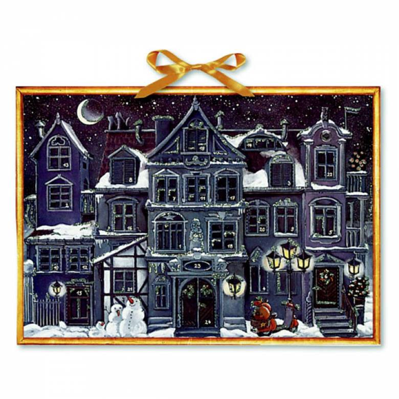 The Christmas House At Night Advent Calendar (Colourful Inside)