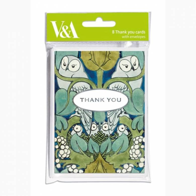 The Owl - Pack Of 8 Thank You Cards And Envelopes