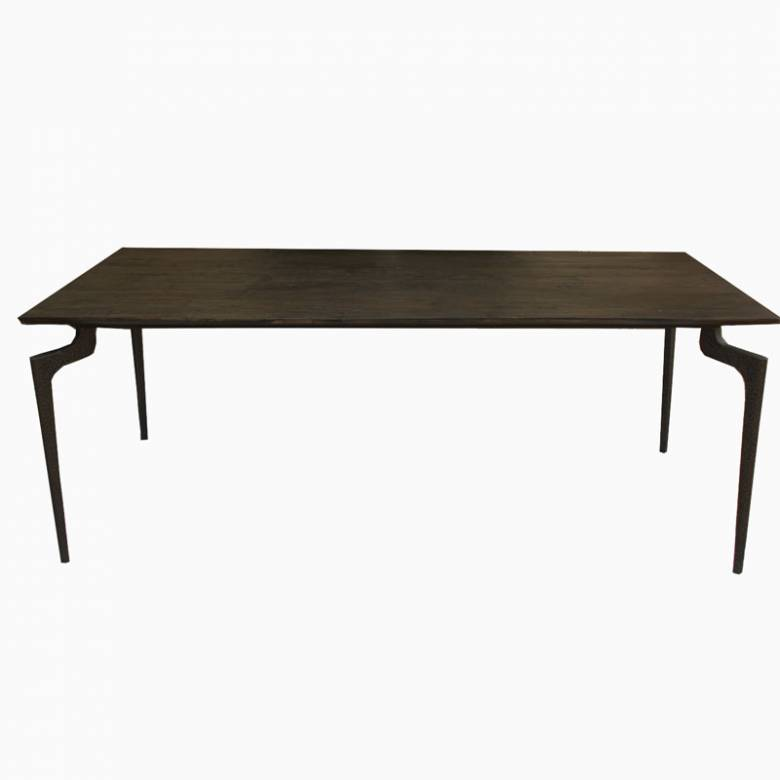 The Whitby Large Black Wood And Metal Dining Table