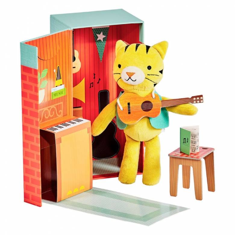 Theodore The Tiger In the Music Room Playset 3+