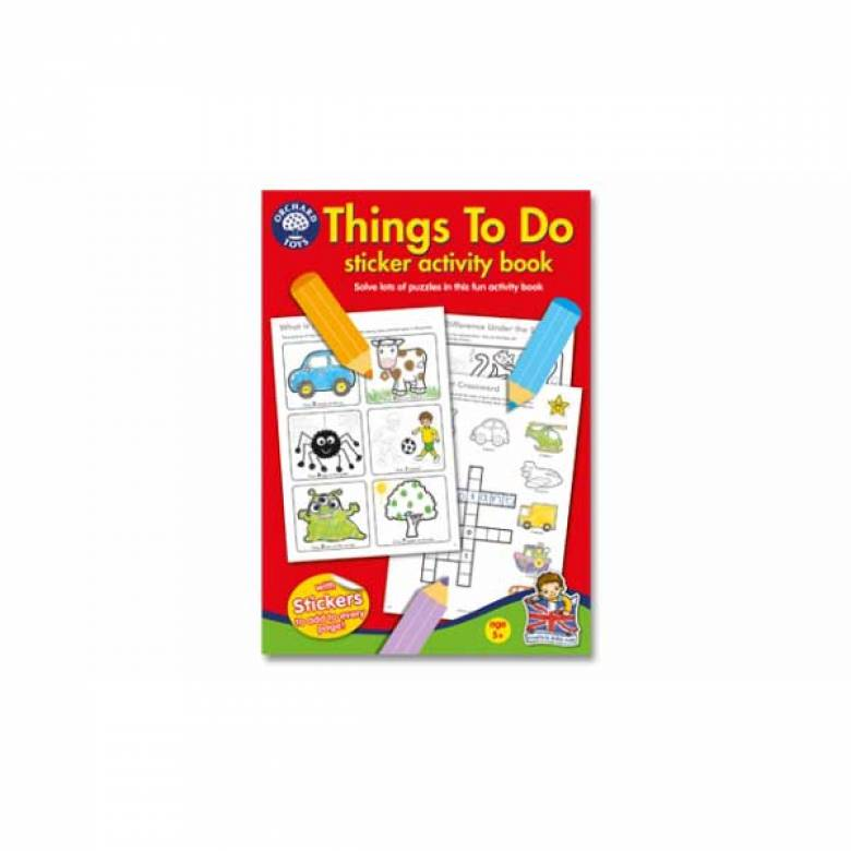 Things To Do Sticker Activity Book By Orchard Toys 5+