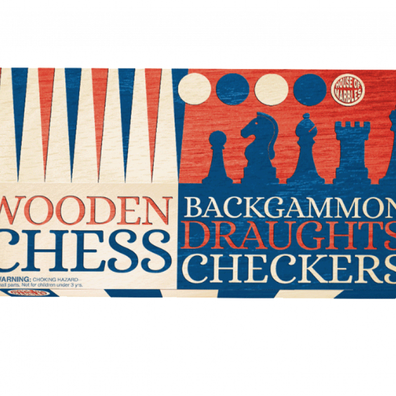 Three In One Game Set -  Chess, Draughts & Backgammon