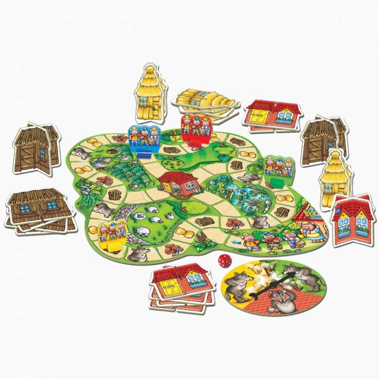 Three Little Pigs Board Game By Orchard Toys 3-6yrs