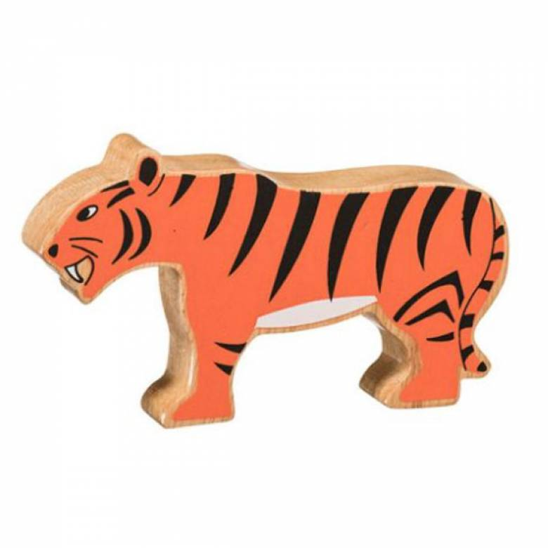 Tiger Wooden Painted Animal Fairtrade Lanka Kade