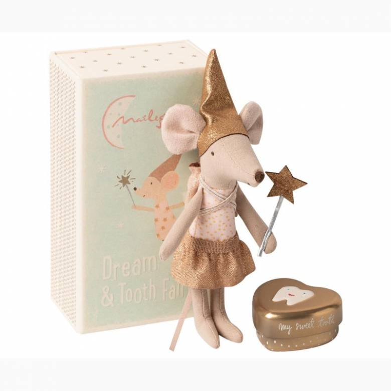 Tooth Fairy Big Sister Mouse With Box By Maileg 0+