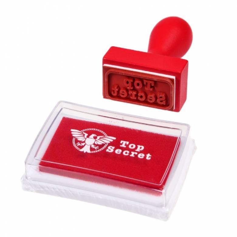 Top Secret Stamp And Ink Set 3+