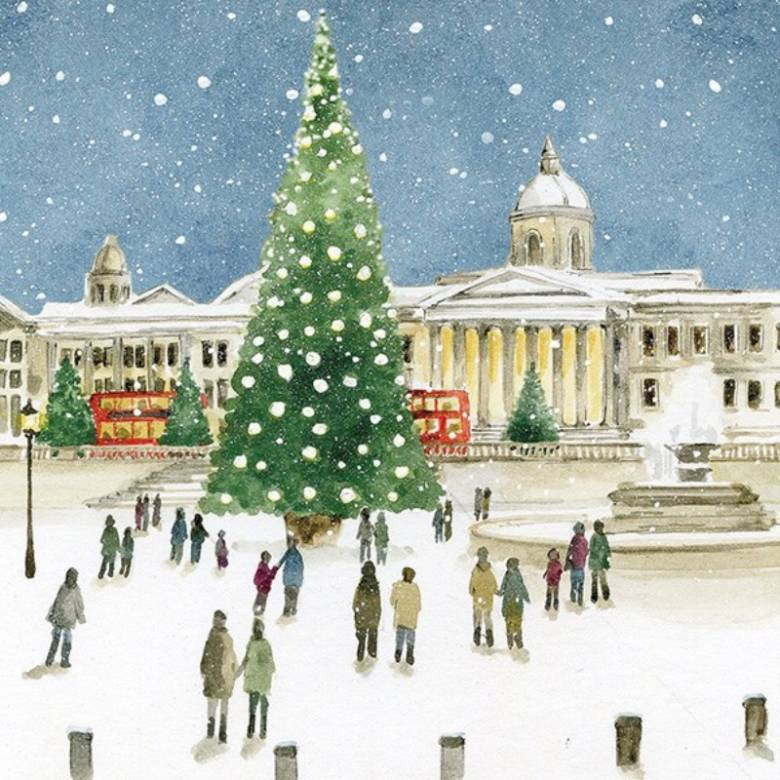 Trafalgar Square - Pack Of 6 Christmas Cards By Art File
