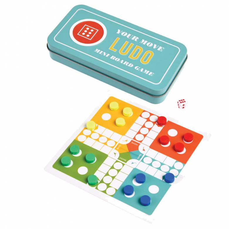Travel Ludo Game In Tin