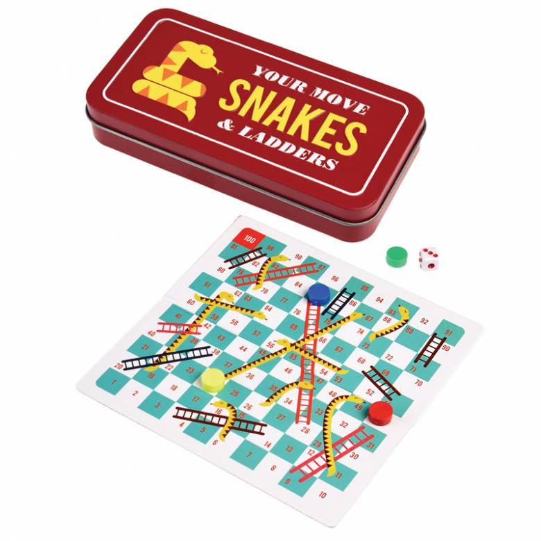 Z DISC Travel Snakes & Ladders Game In Tin