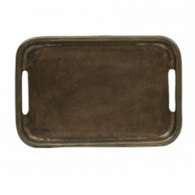 Antiqued Bronzed Tray 30x20cm