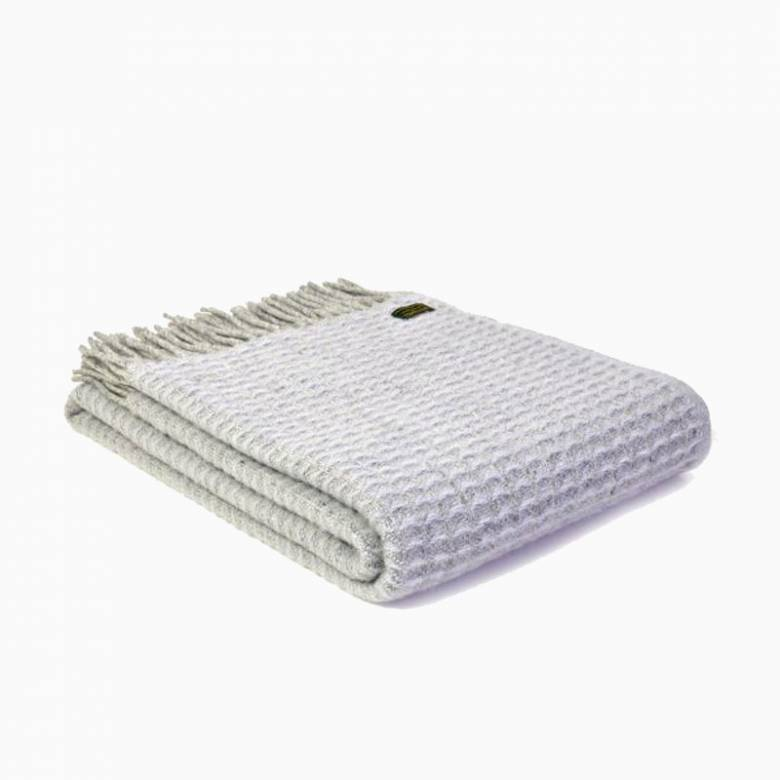 Grey Beehive Wool Knee Blanket 70x183cm