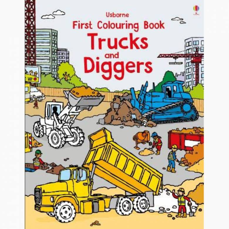 Trucks & Diggers - First Colouring Book