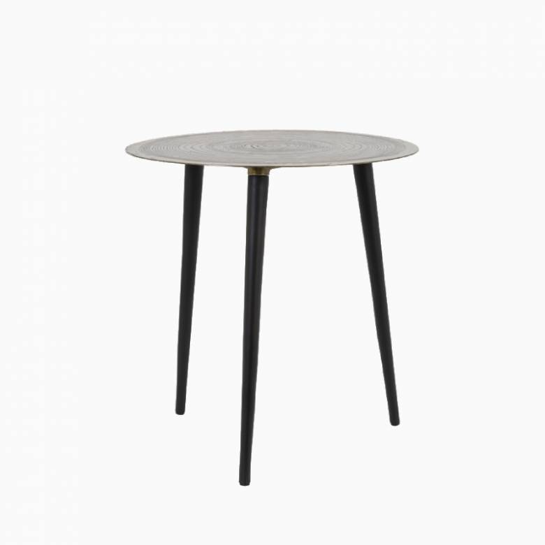 Trunk Circular Side Table In Gold And Black 45x47cm
