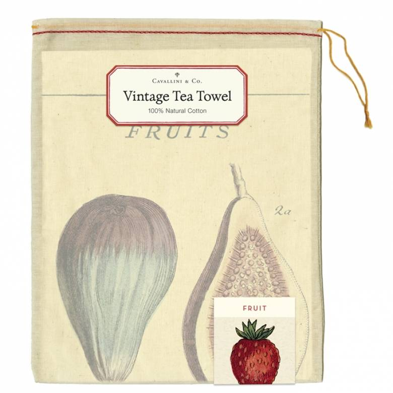 Fruit Cotton Tea Towel With Gift Bag