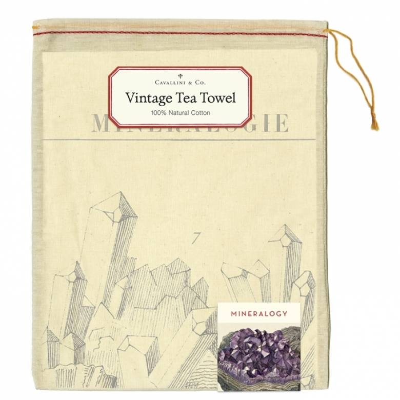 Mineralogie Cotton Tea Towel With Gift Bag
