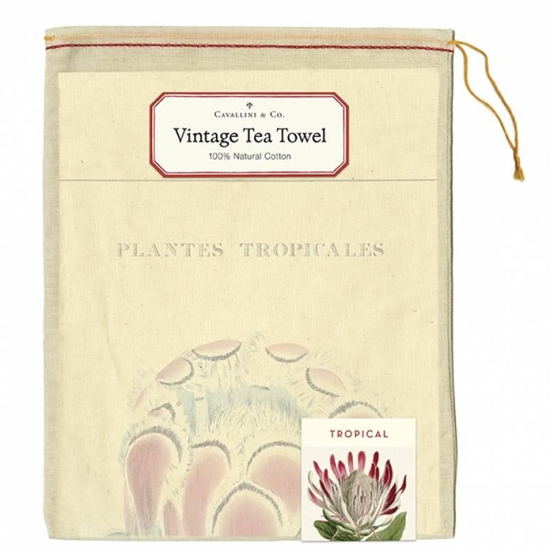 Tropical Plants Cotton Tea Towel With Gift Bag