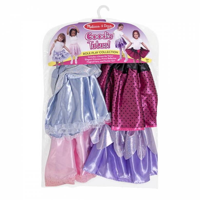 Set Of 4 Tutus Dress Up By Melissa & Doug 3-6yrs