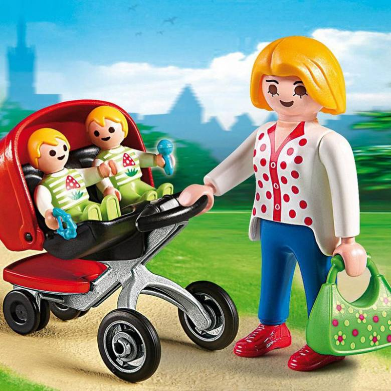 Mother With Twin Stroller City Life Playmobil 5573 4-10yrs